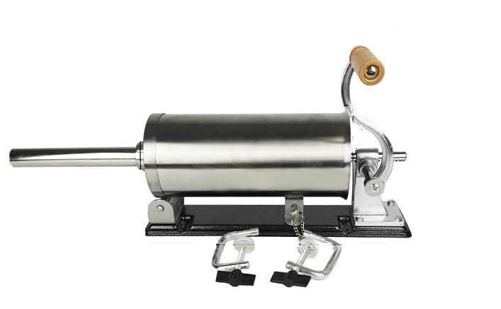 Шприц колбасный горизонтальный на 3 кг. с мет. насадками