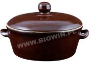 Керамический горшок - для топленого сала - с крышкой